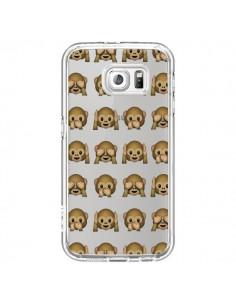Coque Singe Monkey Emoticone Emoji Transparente pour Samsung Galaxy S7 - Laetitia
