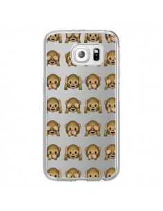 Coque Singe Monkey Emoticone Emoji Transparente pour Samsung Galaxy S7 Edge - Laetitia