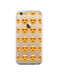 Coque Love Amoureux Smiley Emoticone Emoji Transparente pour iPhone 6 et 6S - Laetitia