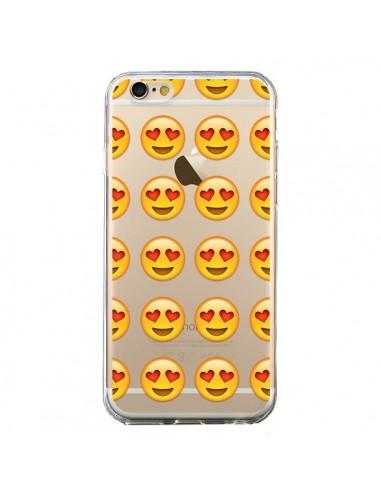 coque love amoureux smiley emoticone emoji transparente pour iphone 6 et 6s laetitia. Black Bedroom Furniture Sets. Home Design Ideas