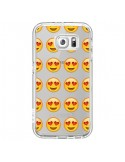 Coque Love Amoureux Smiley Emoticone Emoji Transparente pour Samsung Galaxy S6 - Laetitia
