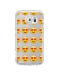 Coque Love Amoureux Smiley Emoticone Emoji Transparente pour Samsung Galaxy S7 - Laetitia