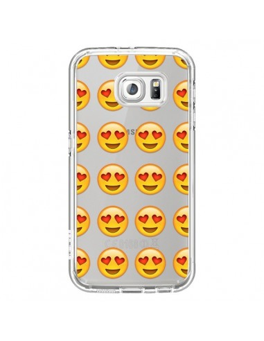 Coque Love Amoureux Smiley Emoticone Emoji Transparente pour Samsung Galaxy S7 - Laetitia