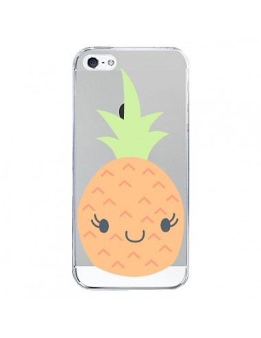coque iphone 5 5s se ananas pineapple fruit transparente claudia ramos