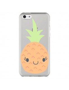 Coque Ananas Pineapple Fruit Transparente pour iPhone 5C - Claudia Ramos