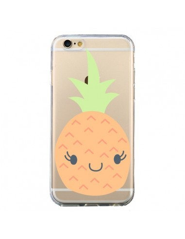 Coque Ananas Pineapple Fruit Transparente pour iPhone 6 et 6S - Claudia Ramos