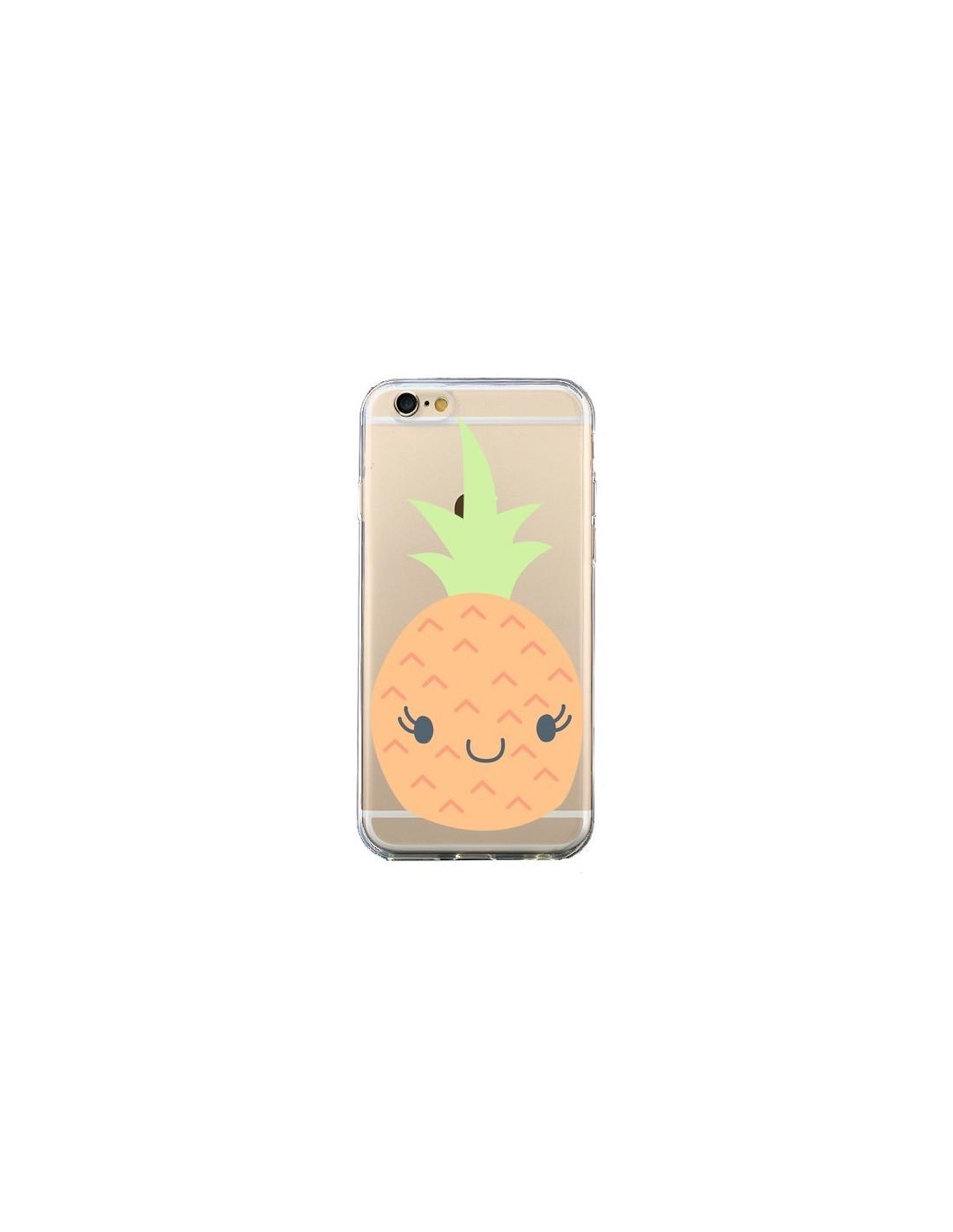 Coque iPhone 6 et 6S Ananas Pineapple Fruit Transparente - Claudia Ramos