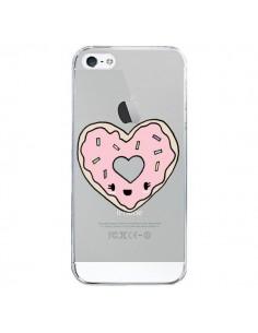 Coque Donuts Heart Coeur Rose Transparente pour iPhone 5/5S et SE - Claudia Ramos