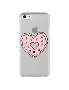 Coque iPhone 5C Donuts Heart Coeur Rose Transparente - Claudia Ramos