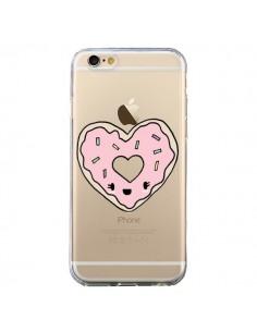 Coque Donuts Heart Coeur Rose Transparente pour iPhone 6 et 6S - Claudia Ramos