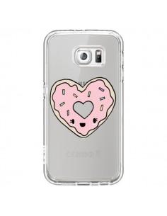 Coque Donuts Heart Coeur Rose Transparente pour Samsung Galaxy S7 - Claudia Ramos