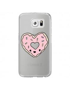 Coque Donuts Heart Coeur Rose Transparente pour Samsung Galaxy S7 Edge - Claudia Ramos