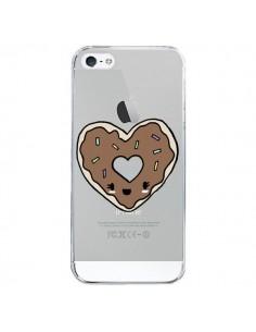 Coque Donuts Heart Coeur Chocolat Transparente pour iPhone 5/5S et SE - Claudia Ramos