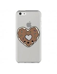 Coque iPhone 5C Donuts Heart Coeur Chocolat Transparente - Claudia Ramos