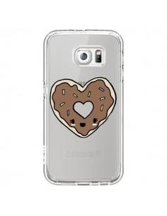 Coque Donuts Heart Coeur Chocolat Transparente pour Samsung Galaxy S7 - Claudia Ramos