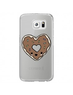 Coque Donuts Heart Coeur Chocolat Transparente pour Samsung Galaxy S7 Edge - Claudia Ramos