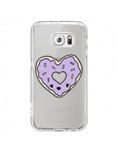 Coque Donuts Heart Coeur Violet Transparente pour Samsung Galaxy S7 - Claudia Ramos
