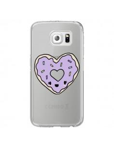 Coque Donuts Heart Coeur Violet Transparente pour Samsung Galaxy S7 Edge - Claudia Ramos