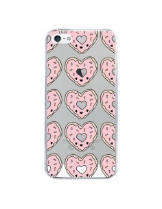 Coque iPhone 5/5S et SE Donuts Heart Coeur Rose Pink Transparente - Claudia Ramos