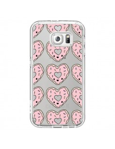 Coque Donuts Heart Coeur Rose Pink Transparente pour Samsung Galaxy S7 - Claudia Ramos