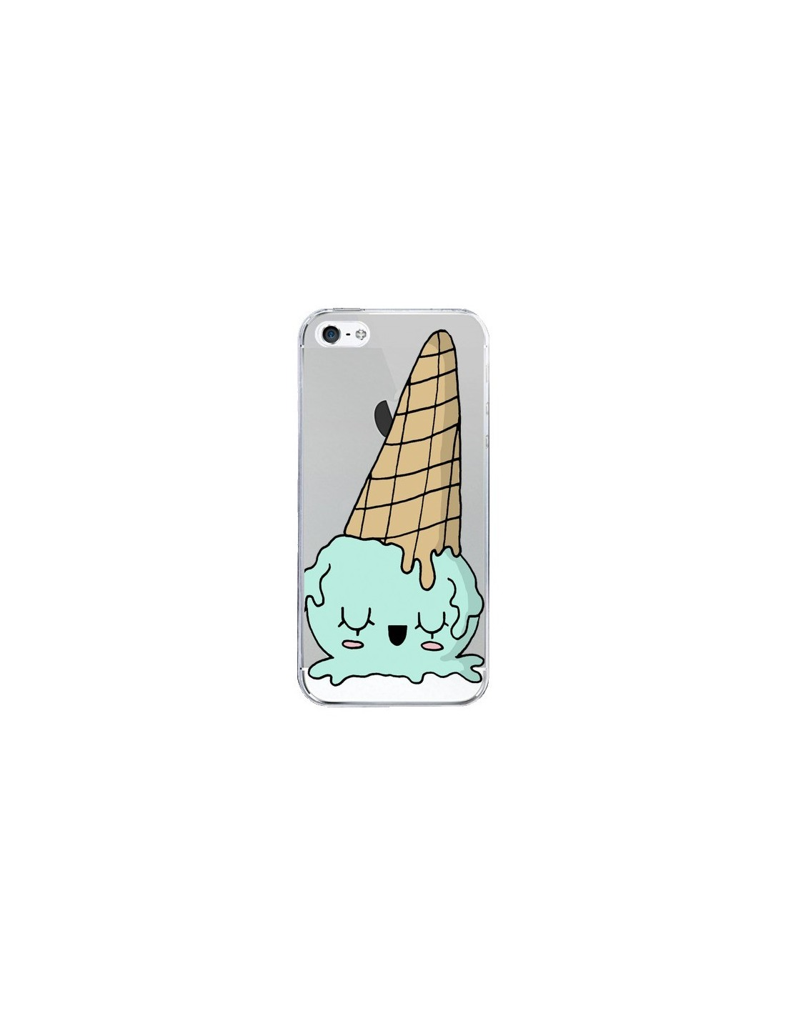 coque ice cream glace summer ete renverse transparente pour iphone 5 et 5s claudia ramos. Black Bedroom Furniture Sets. Home Design Ideas