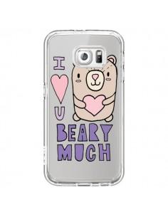 Coque I Love You Beary Much Nounours Transparente pour Samsung Galaxy S7 - Claudia Ramos