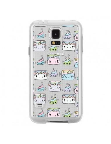 Coque Licorne Unicorn Cute Swag Transparente pour Samsung Galaxy S5 - Claudia Ramos