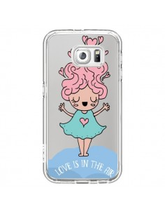 Coque Love Is In The Air Fillette Transparente pour Samsung Galaxy S7 - Claudia Ramos