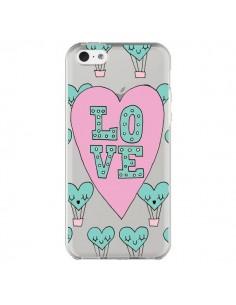 Coque Love Nuage Montgolfier Transparente pour iPhone 5C - Claudia Ramos