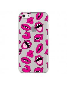 Coque iPhone 5C Lèvres Lips Bouche Kiss Transparente - Claudia Ramos