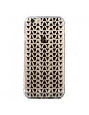Coque Triangles Romi Azteque Noir Transparente pour iPhone 6 et 6S - Laetitia