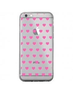 Coque Coeur Heart Love Amour Rose Transparente pour iPhone 6 Plus et 6S Plus - Laetitia