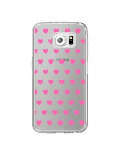 Coque Coeur Heart Love Amour Rose Transparente pour Samsung Galaxy S7 Edge - Laetitia
