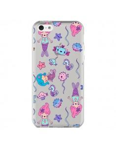 Coque Mermaid Petite Sirene Ocean Transparente pour iPhone 5C - Claudia Ramos
