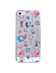 Coque Mermaid Petite Sirene Ocean Transparente pour iPhone 5 et 5S - Claudia Ramos