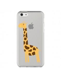 Coque Girafe Giraffe Animal Savane Transparente pour iPhone 5C - Petit Griffin