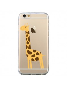 Coque iPhone 6 et 6S Girafe Giraffe Animal Savane Transparente - Petit Griffin