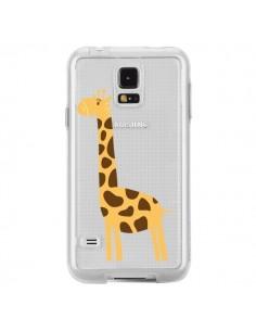 Coque Girafe Giraffe Animal Savane Transparente pour Samsung Galaxy S5 - Petit Griffin