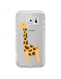 Coque Girafe Giraffe Animal Savane Transparente pour Samsung Galaxy S6 - Petit Griffin
