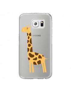 Coque Girafe Giraffe Animal Savane Transparente pour Samsung Galaxy S6 Edge - Petit Griffin