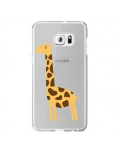 Coque Girafe Giraffe Animal Savane Transparente pour Samsung Galaxy S6 Edge Plus - Petit Griffin