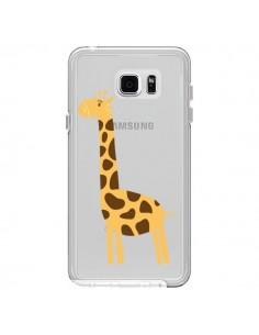 Coque Girafe Giraffe Animal Savane Transparente pour Samsung Galaxy Note 5 - Petit Griffin