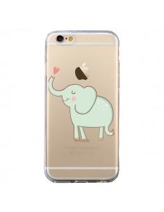 Coque Elephant Elefant Animal Coeur Love Transparente pour iPhone 6 et 6S - Petit Griffin