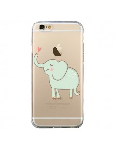 Coque iPhone 6 et 6S Elephant Elefant Animal Coeur Love Transparente - Petit Griffin