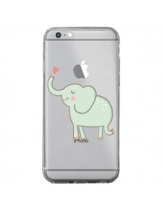 Coque Elephant Elefant Animal Coeur Love Transparente pour iPhone 6 Plus et 6S Plus - Petit Griffin