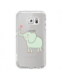 Coque Elephant Elefant Animal Coeur Love Transparente pour Samsung Galaxy S7 - Petit Griffin