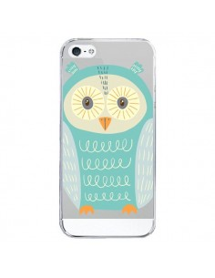 Coque iPhone 5/5S et SE Hibou Owl Transparente - Petit Griffin