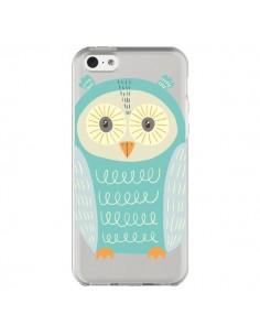 Coque iPhone 5C Hibou Owl Transparente - Petit Griffin