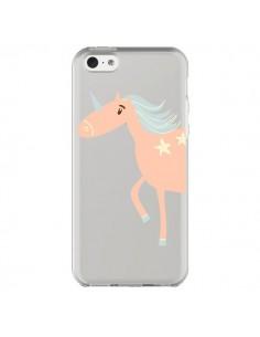 Coque iPhone 5C Licorne Unicorn Rose Transparente - Petit Griffin