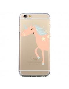 Coque Licorne Unicorn Rose Transparente pour iPhone 6 et 6S - Petit Griffin